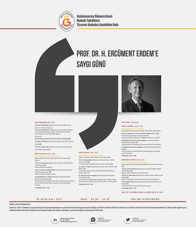 Prof.Dr. H.Ercüment ERDEM'e Saygı Günü