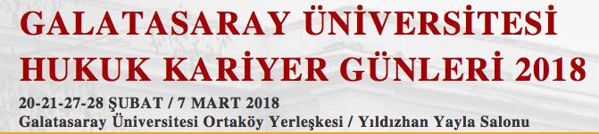 Galatasaray Üniversitesi Hukuk Kariyer Günleri 2018